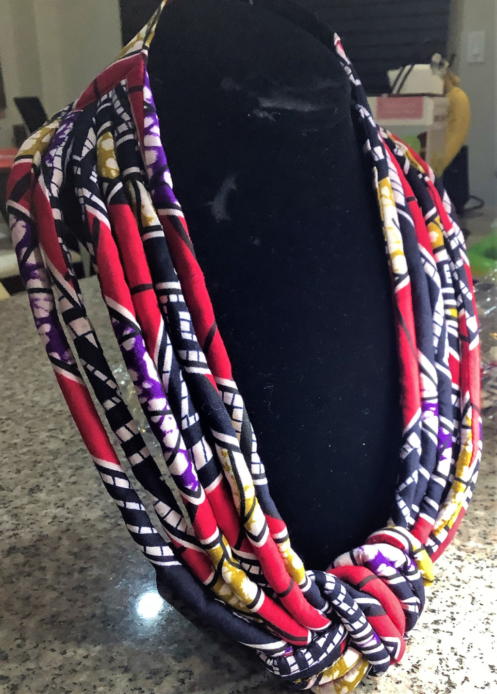 African Print Necklace set- Multi Color