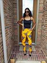 Women's Embroidered yellow pant set (African wax print/Ankara) - ENUBEE