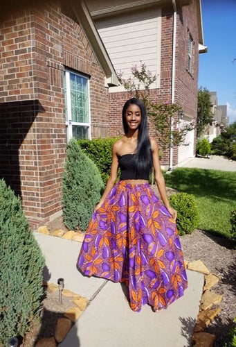 Beautiful patterned skirt, African