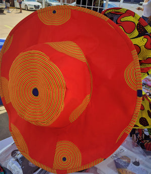 African Style-Floppy Hats in African Waxprint