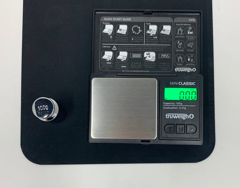 How to Calibrate Your Digital Scale - The Truweigh Blog - 100g Calibration Weight Mini Classic Scale Set Up Mousepad