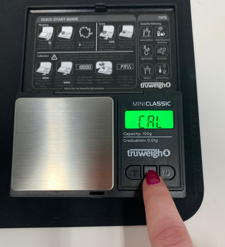 How to Calibrate Your Digital Scale - The Truweigh Blog - Mode Cal Set Up Calibration Weight Mini Classic