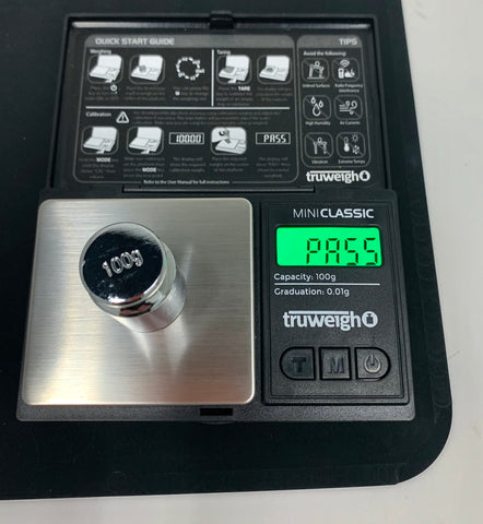 How to Calibrate Your Digital Scale - The Truweigh Blog - 100g Mini Classic Scale Calibration Weight Successful Pass