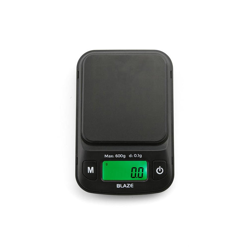Truweigh Blaze Digital Pocket Jewelry Mini Scale 600g Capacity 0.1g Readability Compact Portable Black Precision Weighing Sensor Backlit LCD Screen Overload Protection Easy Calibration Auto-Off Tare Zero Warranty Arts Crafts Hobby Cash and Carry Headshops Science Education Scale Resellers