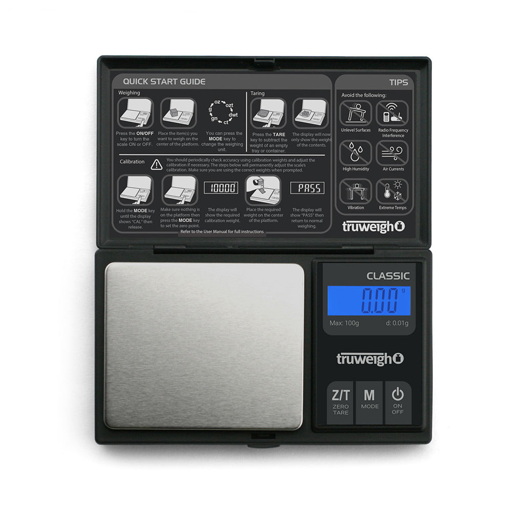 Truweigh Classic Digital Scale 100G X 0.01G - Black