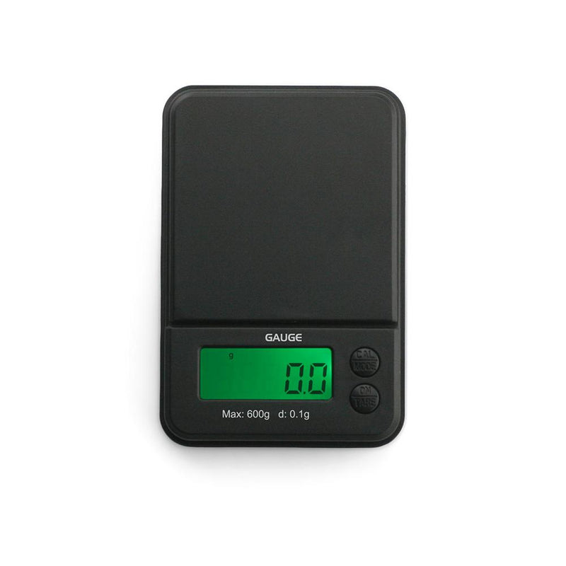 Truweigh Gauge Digital Pocket Jewelry Mini Scale 600g Capacity 0.1g Readability Compact Portable Black Precision Weighing Sensor Back-lit LCD Screen Overload Protection Easy Calibration Auto-Off Tare Zero Warranty Arts Crafts Cash Carry Headshops Numismatics Science Education Scale Resellers