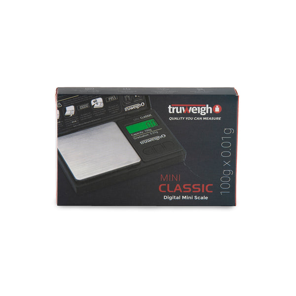 Truweigh Mini Classic Scale - 100g x 0.01g - Black