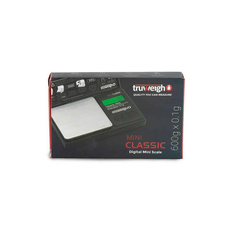 Truweigh Mini Classic Scale - 600g x 0.1g - Black