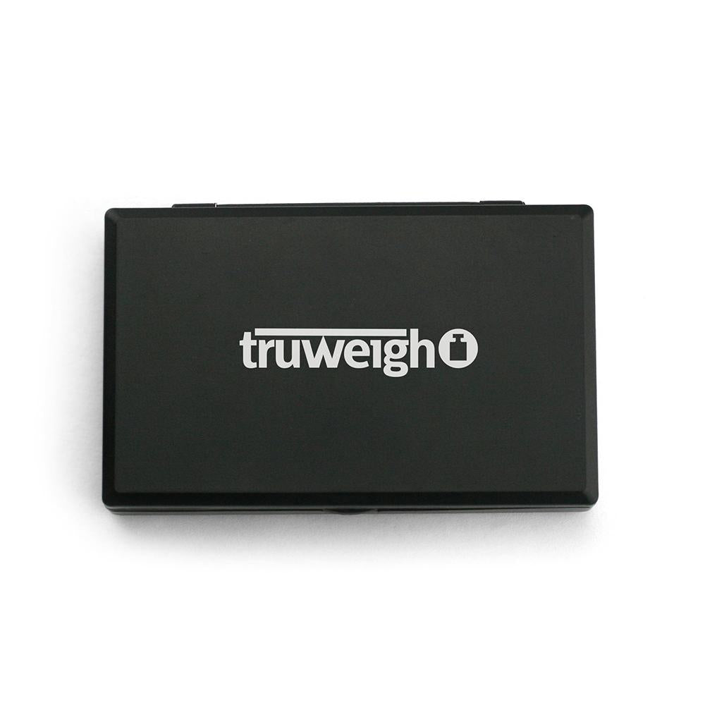 Truweigh Mini Classic Digital Mini Scale 600g Capacity 0.1g Readability Stainless Steel Platform Hinged Locking Lid One Touch Calibration Tare Zero Overload Protection Back-Lit LCD Screen Auto-Off AAA Batteries 10 Year Warranty Arts Crafts Hobby Cash Carry Headshops Numismatics Scale Resellers