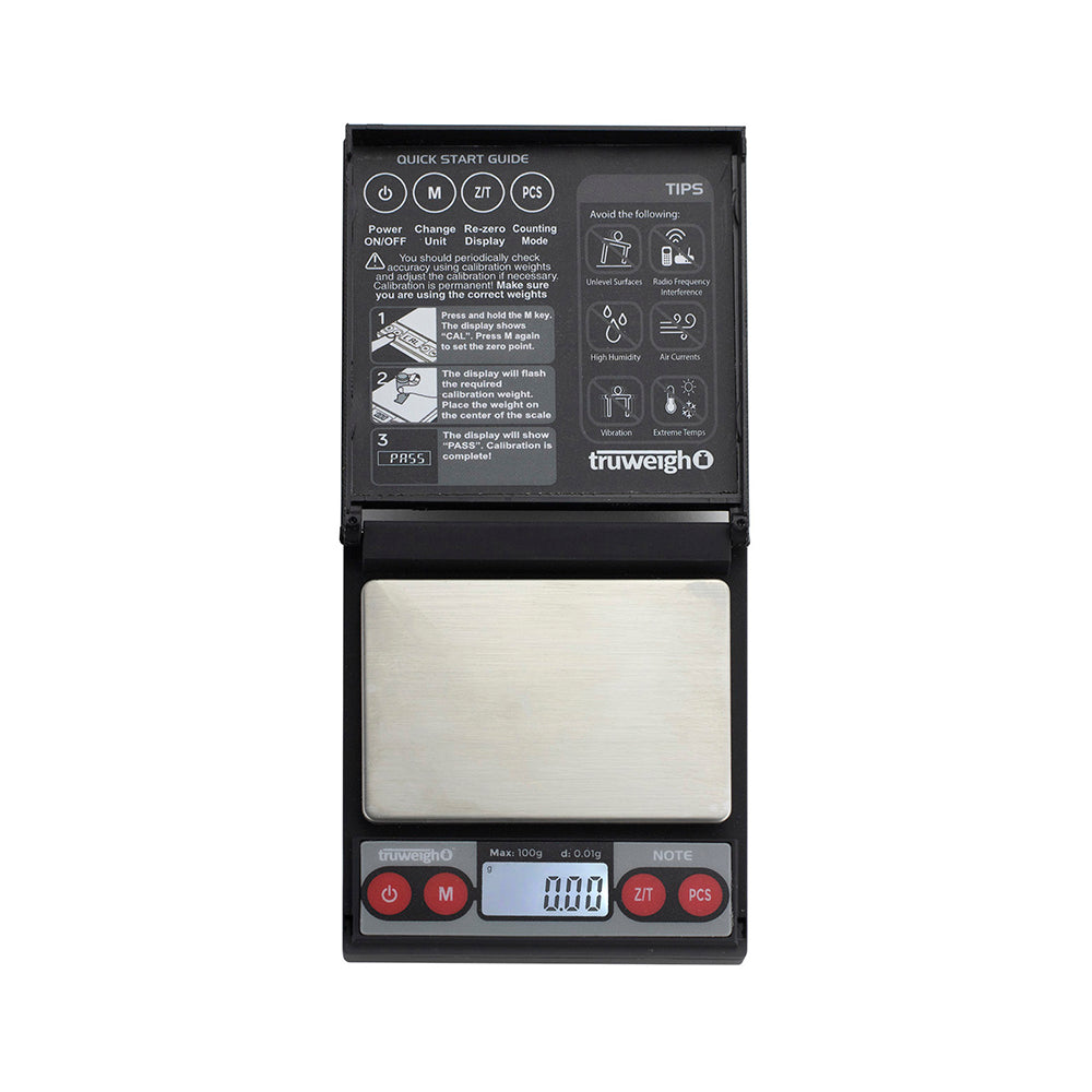 Truweigh Note Digital Mini Scale 100G X 0.01G - Black