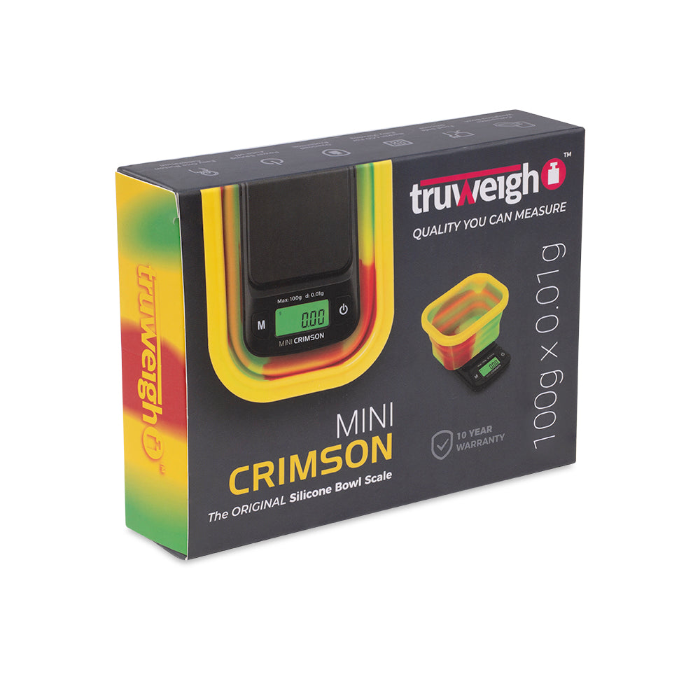 Truweigh Mini Crimson Scale Collapsible Bowl - 100g x 0.01g - Rasta