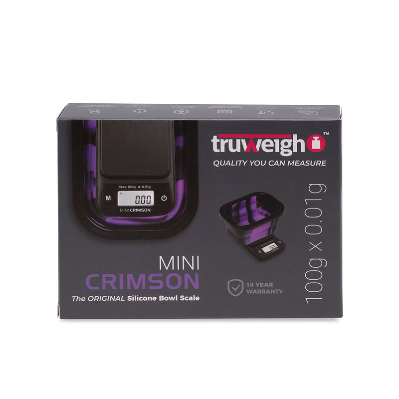 Truweigh Mini Crimson Scale Collapsible Bowl - 100g x 0.01g - Black / Purple