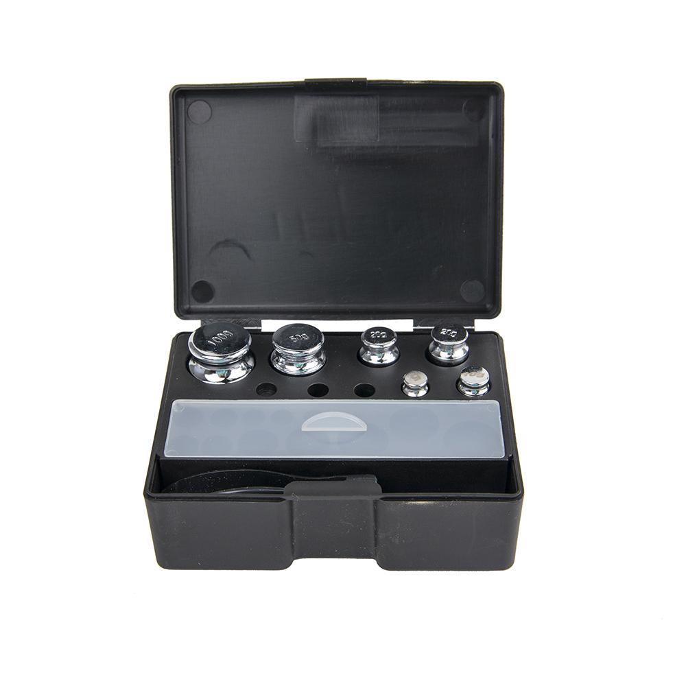 Truweigh Black 8 Piece Calibration Weight Set Kit Case Box Tweezers 100g 50g 20g 10g 5g Accuracy Test Check Calibrate Calibrating Chromed Steel