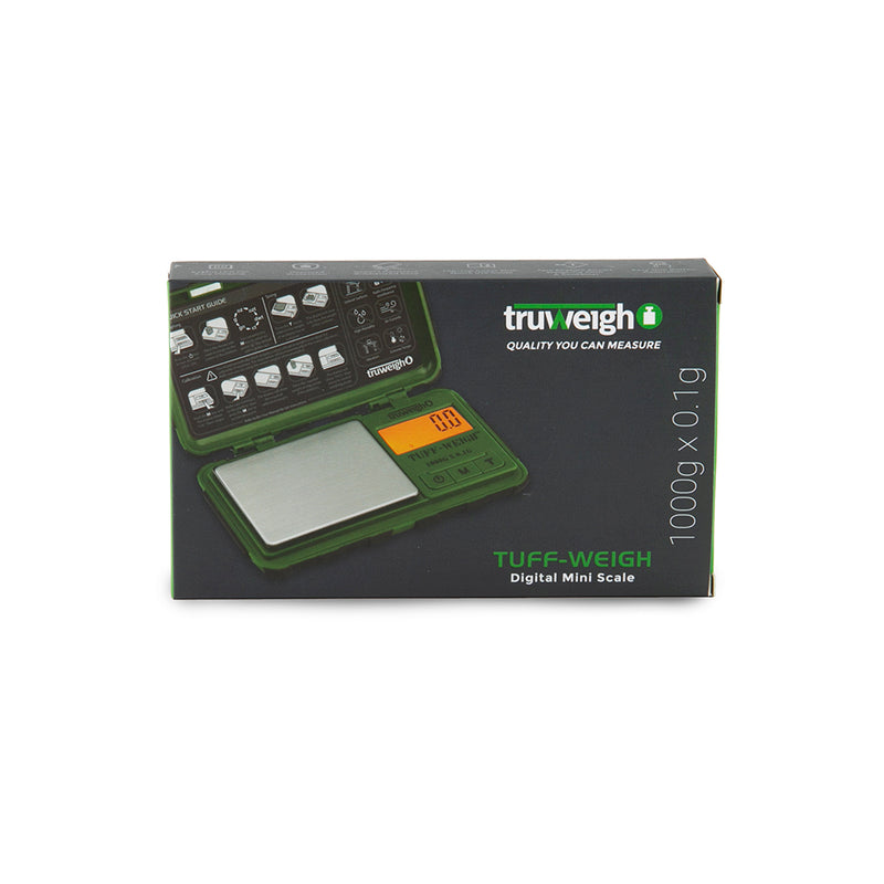 Truweigh Tuff-Weigh Scale - 1000g x 0.1g - Green/Black