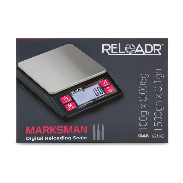 Truweigh Marksman Digital Reloading Scale - 100g x 0.005g - Black