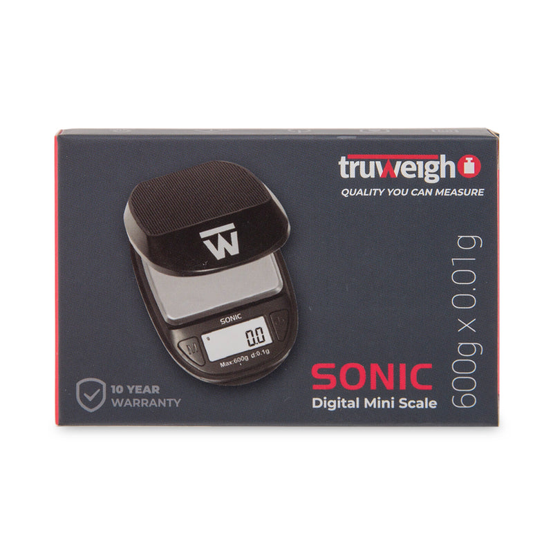 Truweigh Sonic Scale - 600g x 0.1g - Black