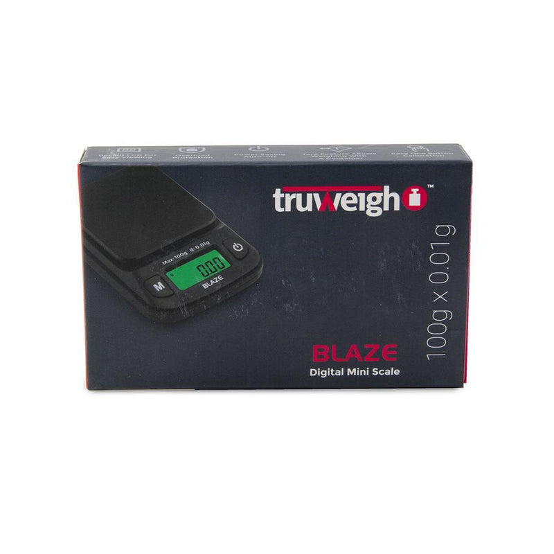 Truweigh Blaze Digital Pocket Jewelry Mini Scale 100g Capacity 0.01g Readability Compact Portable Black Precision Weighing Sensor Backlit LCD Screen Overload Protection Easy Calibration Auto-Off Tare Zero WarrantyTruweigh Blaze Digital Pocket Jewelry Mini Scale 600g Capacity 0.1g Readability Compact Portable Black Precision Weighing Sensor Backlit LCD Screen Overload Protection Easy Calibration Auto-Off Tare Zero Warranty Arts Crafts Hobby Cash and Carry Headshops Science Education Scale Resellers