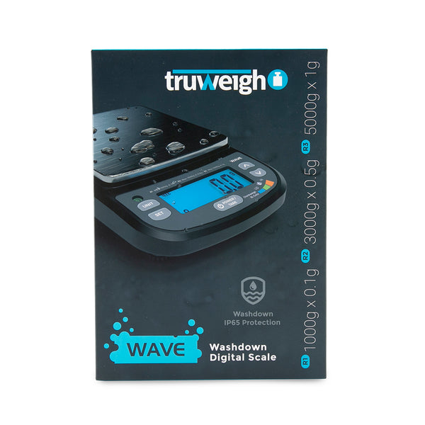 Truweigh Wave IP65 Rated Washdown Bench Scale / Black