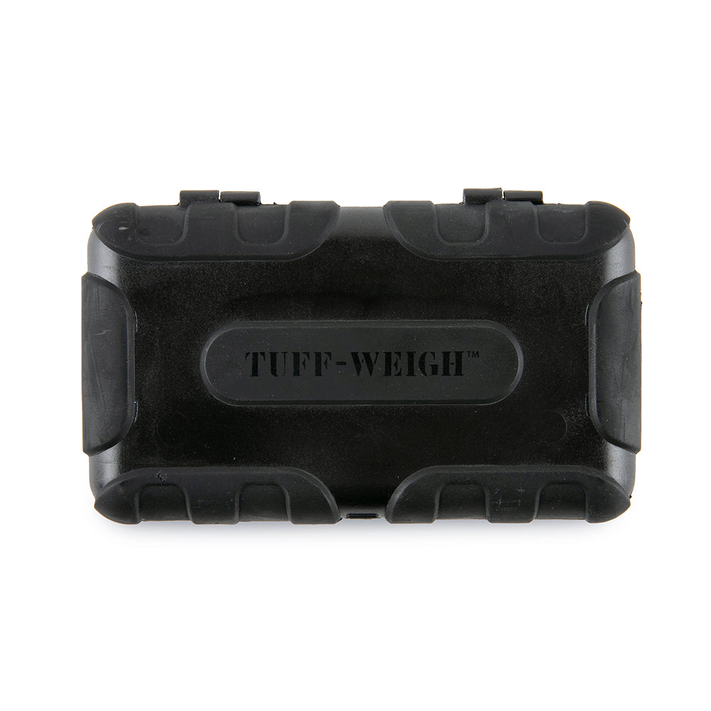 Truweigh Tuff-Weigh Digital Mini Pocket Rubberized Scale Black 1000g Capacity 0.1g Readability Hinged Cover Expansion Tray Back-Lit LCD Screen Overload Protection Auto Off Tare Zero One Touch Calibration 10 Year Warranty Arts Crafts Hobby Coffee Cash Carry Growshops Headshops Numismatics Nutrients Health Medications Scale Resellers