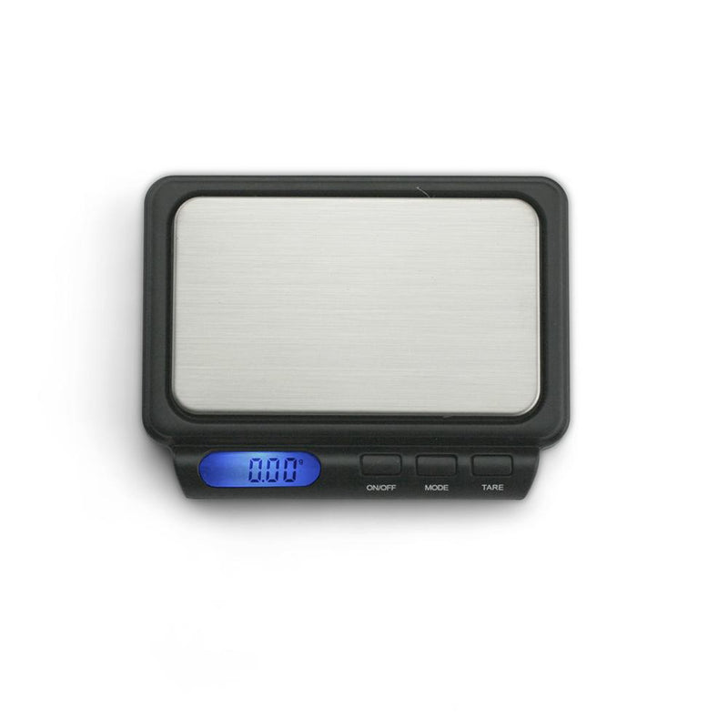 Truweigh Zenith Digital Mini Pocket Kitchen Jewelry Dispensary Scale Compact Stainless Steel Platform Back-Lit LCD Screen Expansion Tray Overload Protection Auto Off Tare Zero One Touch Calibration 10 Year Warranty Arts Crafts Hobby Cash Carry Headshops Pinewood Derby Scale Resellers