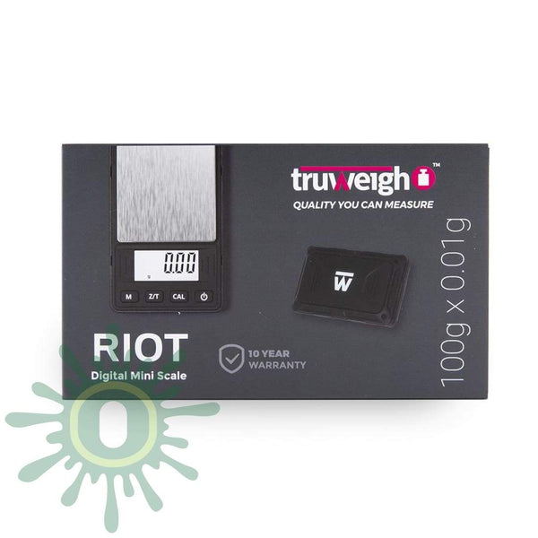 Truweigh Riot Scale - 100g x 0.01g - Black