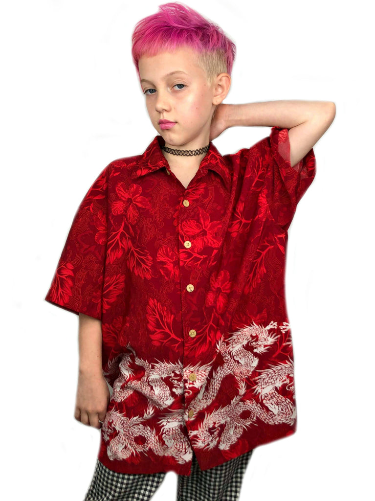 E-boy Dragon Button Up