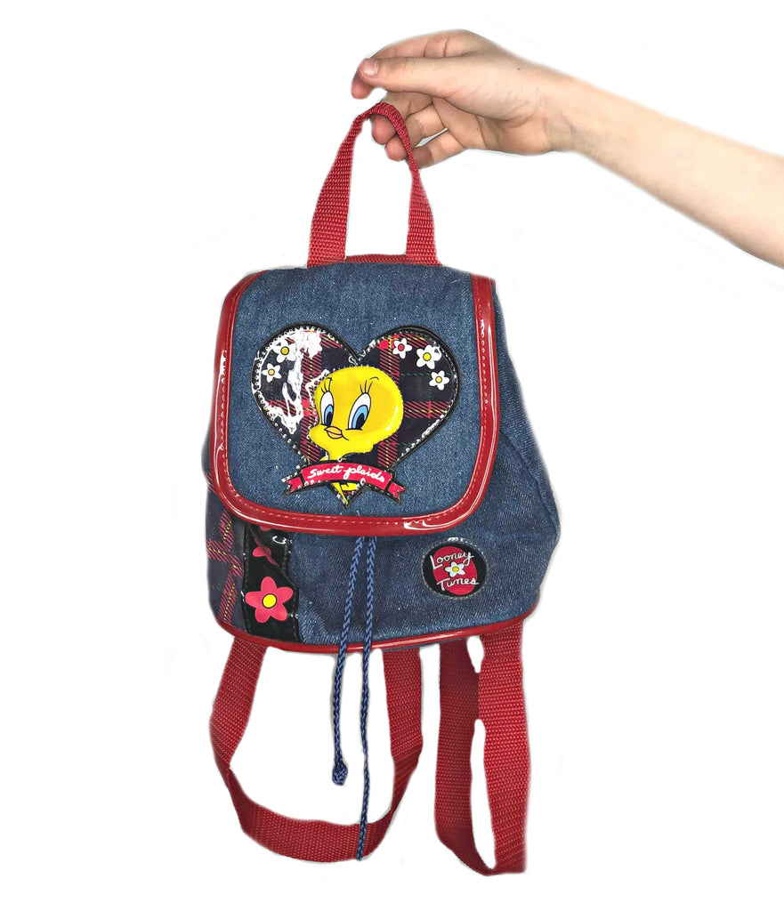 Tweety Denim Backpack