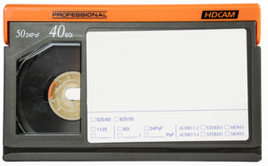 HDCam Format - Small Size Tape