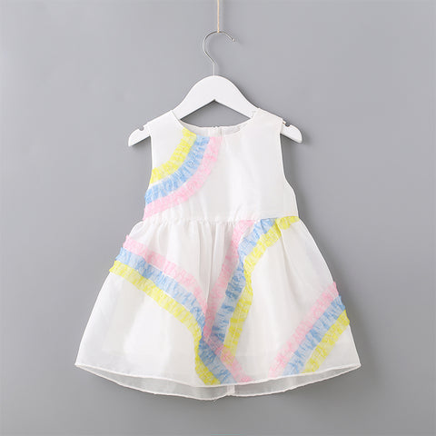 Baby Toddler Girl Limited Edition Sleeveless Rainbow Dress