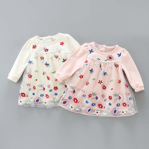 Baby Toddler Girl Limited Edition Flower Lace Party Dress