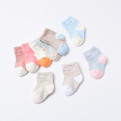 100% Cotton High Quality Socks for Infants & Toddlers - Pack of 4, Color May Vary