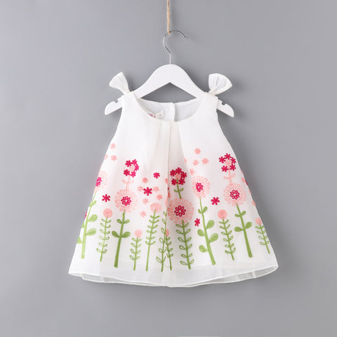Limited Edition Floral Embroidery Beautiful sleeveless Dress