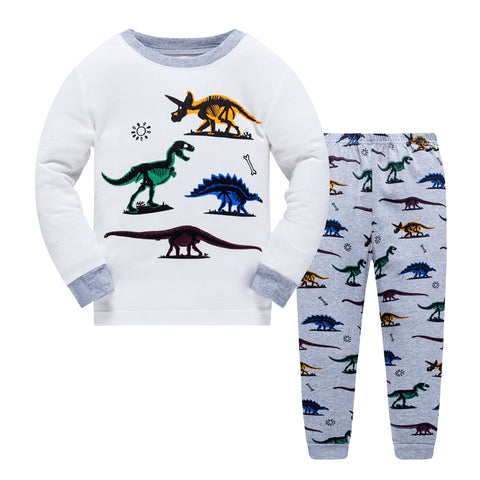 100% Cottons Kids Dinosaur Pajama Set