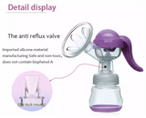 Manual Breast Pump for Mothers With Feeding Bottle