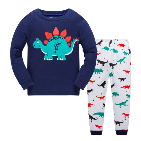 Cottons Kids Pajama Set 2 Pack - Dinosaur & AirPlane