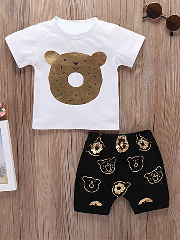 Baby Gold Bear Set