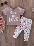 Baby Toddler T Shirt Floral Trousers Set