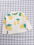 Babies Toddlers Girls  Pineapple Cardigan