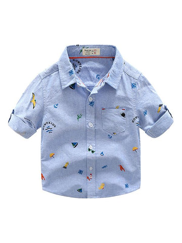 Toddlers Boys Cotton Shirt