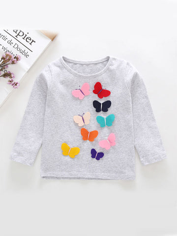 Baby Toddler Butterfly T-shirt white