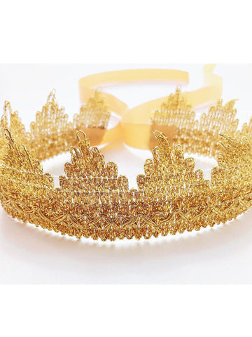 Baby Toddler Girls Gold Crown Headband