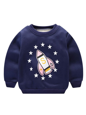 Infant Boys Rocket Print Sweater