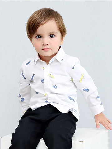 Boys Cotton Shirt with Chest Pocket
