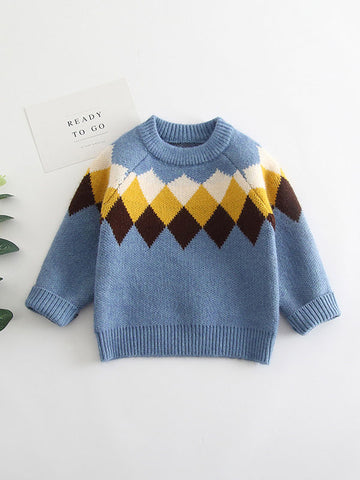 Boys Knitted Sweatshirt Pullover