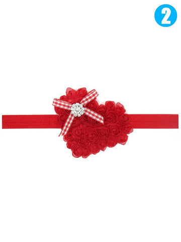 Red Love Flower Headband