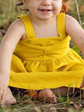 Baby Girl Yellow Big Bow Dress