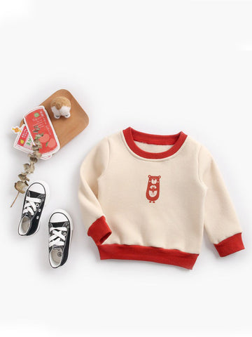 Infant Toddler Kids Fleece-lined Pullover