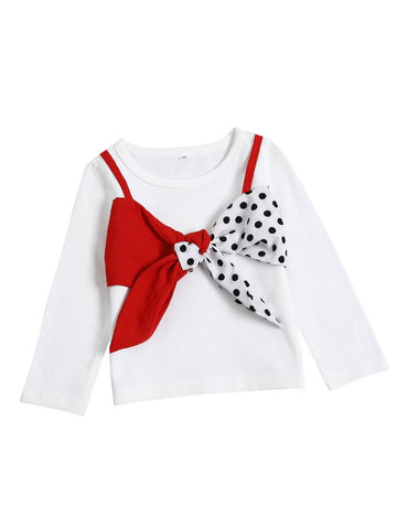Baby Toddler Girl Big Bow T-shirt Pullover Top