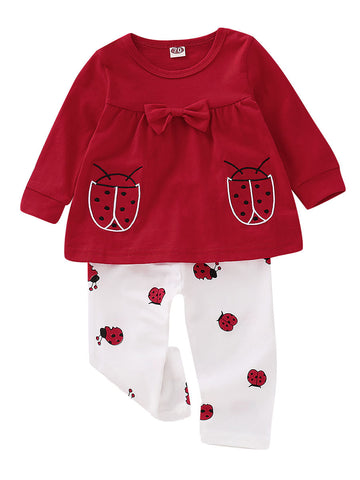Baby Girl Lady Bug Set