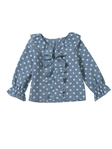 Baby Toddler Girl Polka Dots Blouse Shirt